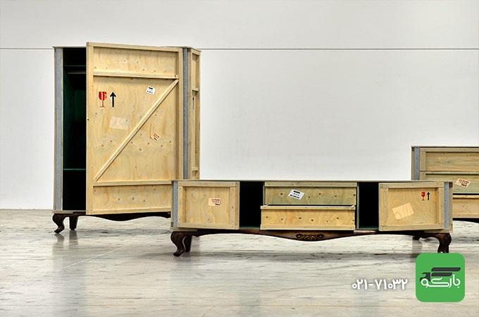 بسته بندی اثاثیه چوبی